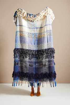 All Roads Bloomfield Throw Blanket By All Roads Design in Blue - Anthropologie
