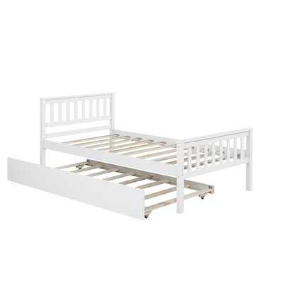 Twin Bed With Trundle,white - Wayfair