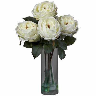 Fancy Roses Centerpiece in Vase - Birch Lane