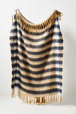 Rives Striped Throw Blanket By Anthropologie in Yellow - Anthropologie