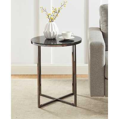 Hasler Tray Top Cross Legs End Table - Wayfair