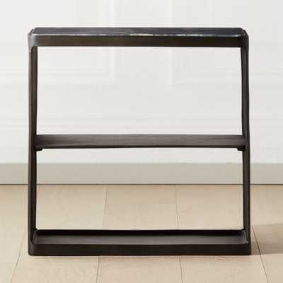 Quarry Black Marble Side Table - CB2