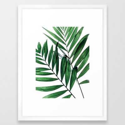 Leaves 5 Framed Art Print by Mareike BaPhmer - Vector White - MEDIUM (Gallery)-20x26 - Society6