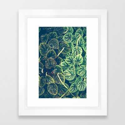 Green Leaves Framed Art Print by Olivia Joy St.claire - Cozy Home Decor, - Vector White - X-Small-10x12 - Society6