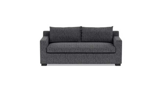 Sloan Sleeper Sleeper Sofa with Black Pepper Fabric, double down blend cushions, and Painted Black legs - Interior Define