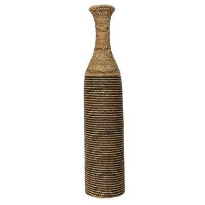 Malta Tan 36'' Rattan Floor Vase - Wayfair