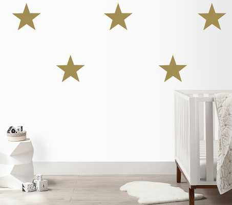 Large Stars Wall Decal, Gold - Pottery Barn Kids