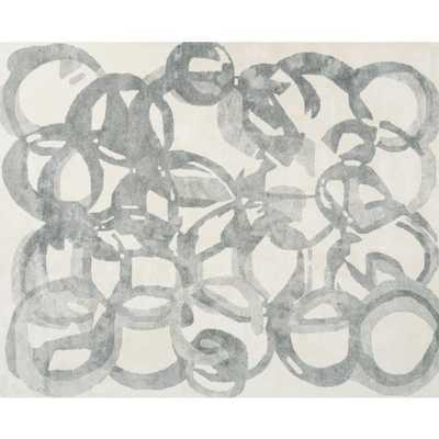 Hoop Circle Pattern Rug 8'x10' - CB2