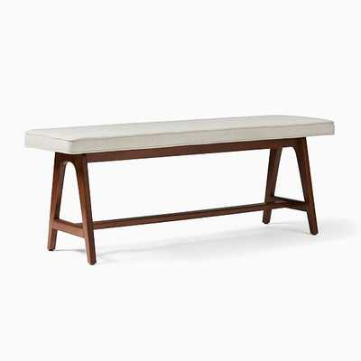 A-Frame Bench, Twill, Wheat, Walnut - West Elm