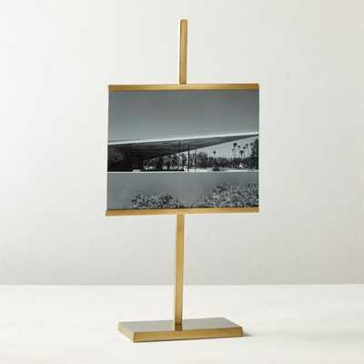 "Rothko Brass Horizontal Picture Frame 8""x10"" - CB2"
