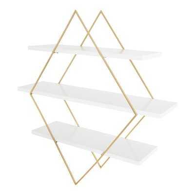 Varner 3 Piece Diamond Floating Shelf - Wayfair