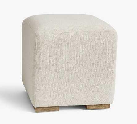 Universal Upholstered Cube, Chenille Basketweave Oatmeal - Pottery Barn
