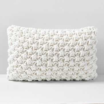 "Bobble Knit Pillow Case, Natural, 12""x21"" - West Elm"