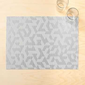 Chilewich Prism Placemat, Silver - West Elm