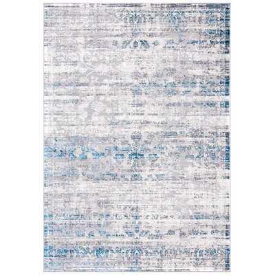 Oriental Grey / Blue Area Rug - Wayfair