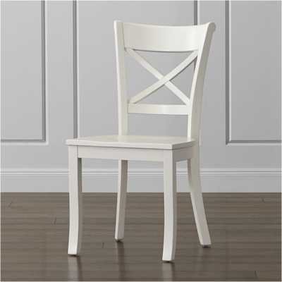 Vintner White Wood Dining Chair - Crate and Barrel
