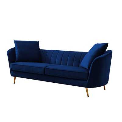 "Sia Curved 87.7"" Flared Arm Sofa - Wayfair"