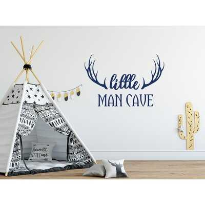 Little Man Cave Quote Kids Room Wall Decal - Wayfair