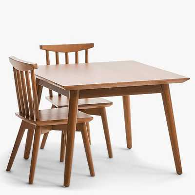 Mid-Century My First Table & Set of 2 Chairs, Acorn - West Elm