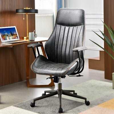 Faux Leather Executive Chair - Wayfair