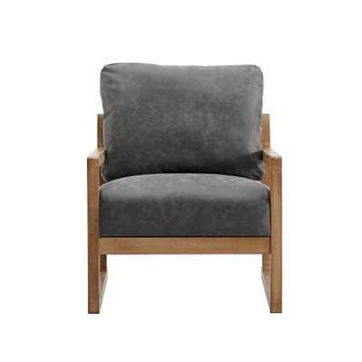 "Kingsdown 26"" W Faux Leather Armchair - Wayfair"