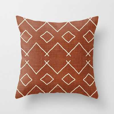"""Bath In Rust Couch Throw Pillow by Becky Bailey - Cover (18"""" x 18"""") with pillow insert - Outdoor Pillow - Society6"""