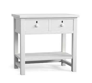 Farmhouse 2-Drawer Nightstand, Montauk White - Pottery Barn