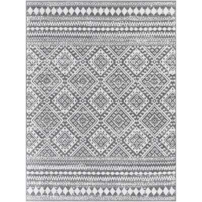Lipson Geometric Gray/Ivory Area Rug - Wayfair