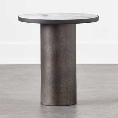 Discus Round Marble Side Table - CB2