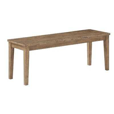 Ninad Wood Bench - Wayfair