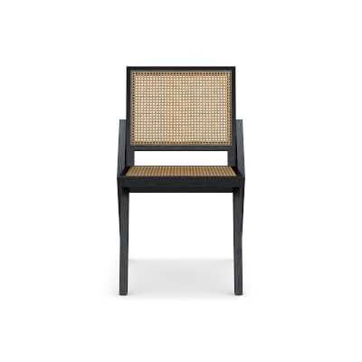 Dalton Dining Side Chair, Ebony/Natural - Williams Sonoma