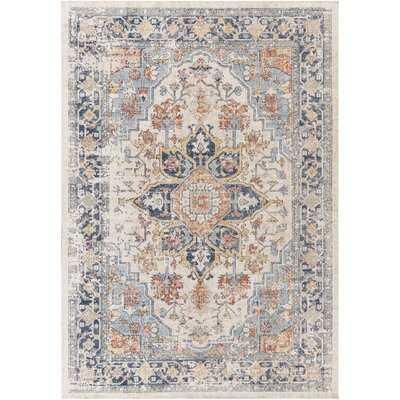 Burgaw Oriental Blue/Gray Indoor / Outdoor Use Area Rug - Wayfair