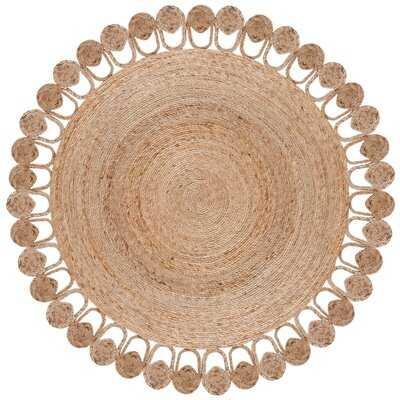 Round Salacia Handmade Flatweave Jute/Sisal Natural Area Rug - Wayfair