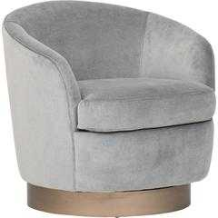 Claudia Swivel Chair, Lulu Slate - High Fashion Home