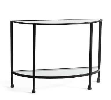 Tanner Demilune Console Table, Bronze - Pottery Barn