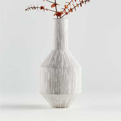 Lyman Scratched Vase - Crate and Barrel