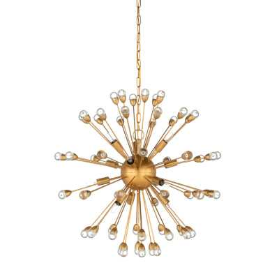 Wildwood 12 - Light Sputnik Sphere Chandelier Finish: Gold - Perigold