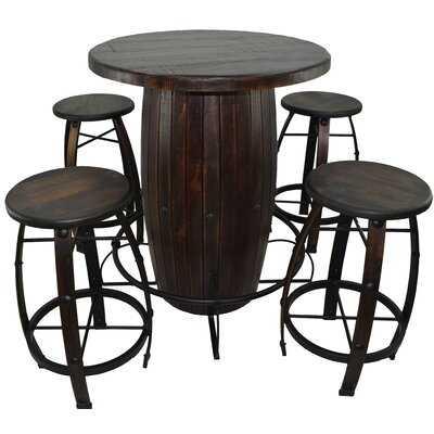 Barboza 5 Pieces Bar Height Solid Wood Dining Set - Wayfair