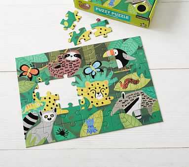 Fuzzy Puzzle Rainforest - Pottery Barn Kids