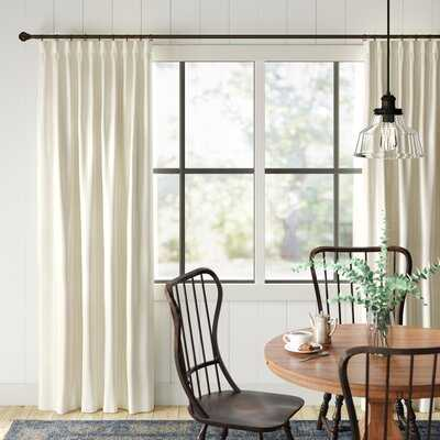 Ludewig Wide Solid Blackout Thermal Rod Pocket Single Curtain Panel - Birch Lane