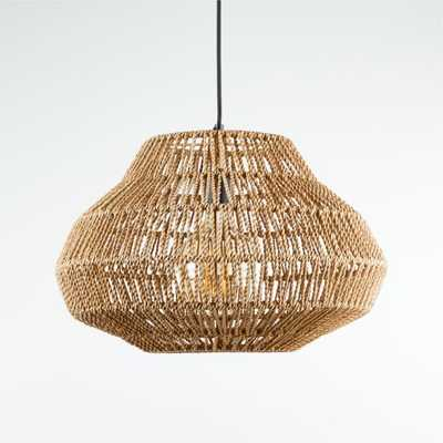 Cabo Small Woven Pendant Light - Crate and Barrel