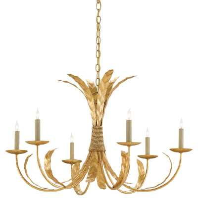 Currey & Company Bunny Williams 6-Light Candle Style Classic / Traditional Chandelier - Perigold