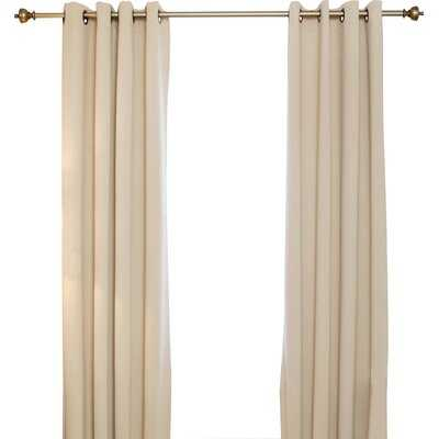 Fazeley Solid Blackout Thermal Grommet Curtain Panels - AllModern