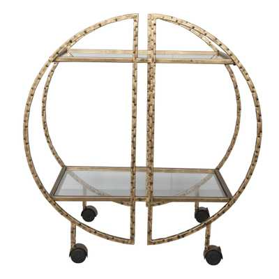 Zelina Gold Bar Cart - Hudsonhill Foundry