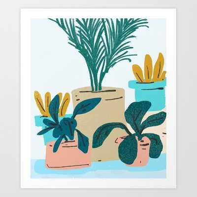 Little Plants #illustration #nature Art Print by 83 Orangesa(r) Art Shop - MEDIUM - Society6