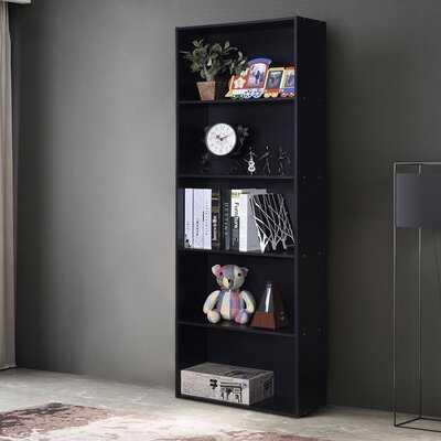 5-Shelf Storage Bookcase Modern Multi-Functional Display Cabinet Black - Wayfair