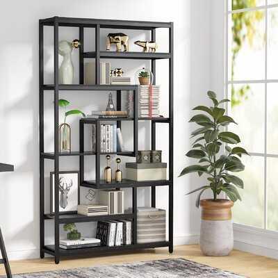 "Pipperidge 70.87"" H x 39.37"" W Steel Geometric Bookcase - Wayfair"