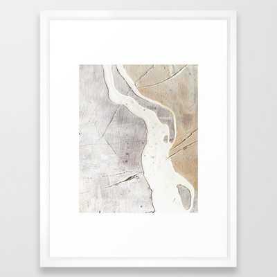 Feels: A Neutral, Textured, Abstract Piece In Whites By Alyssa Hamilton Art Framed Art Print by Alyssa Hamilton Art - Vector White - MEDIUM (Gallery)-20x26 - Society6