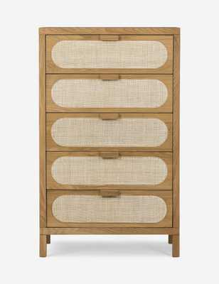 Verna 5-Drawer Dresser, Natural Cane - Lulu and Georgia