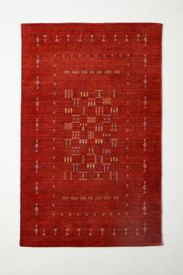 Hand-Knotted Catrine Rug By Anthropologie in Purple Size 8 x 10 - Anthropologie